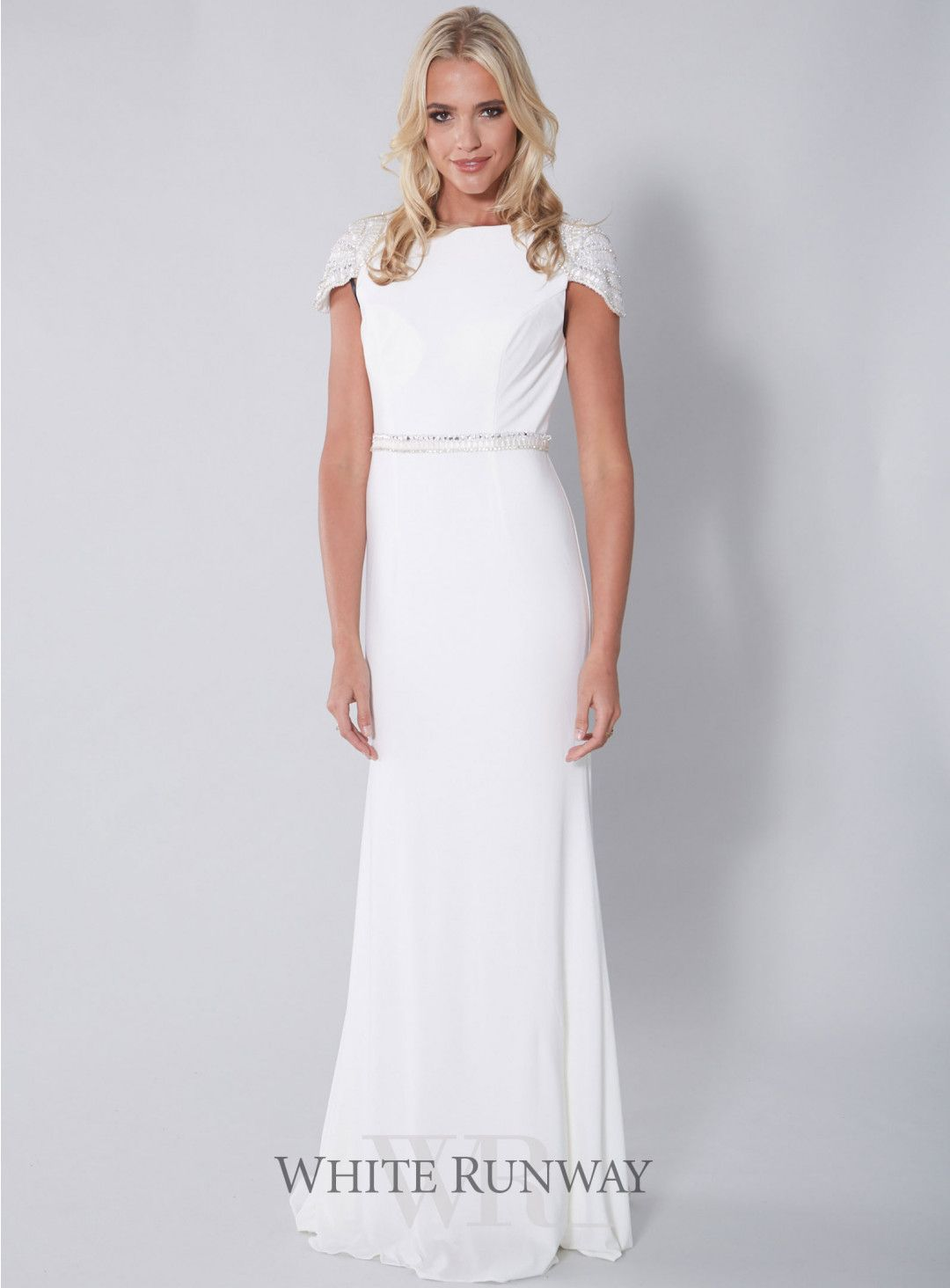 Gorgeous Maternity Wedding Gowns   Exclusive Ivory Dora Cap Sleeve ...