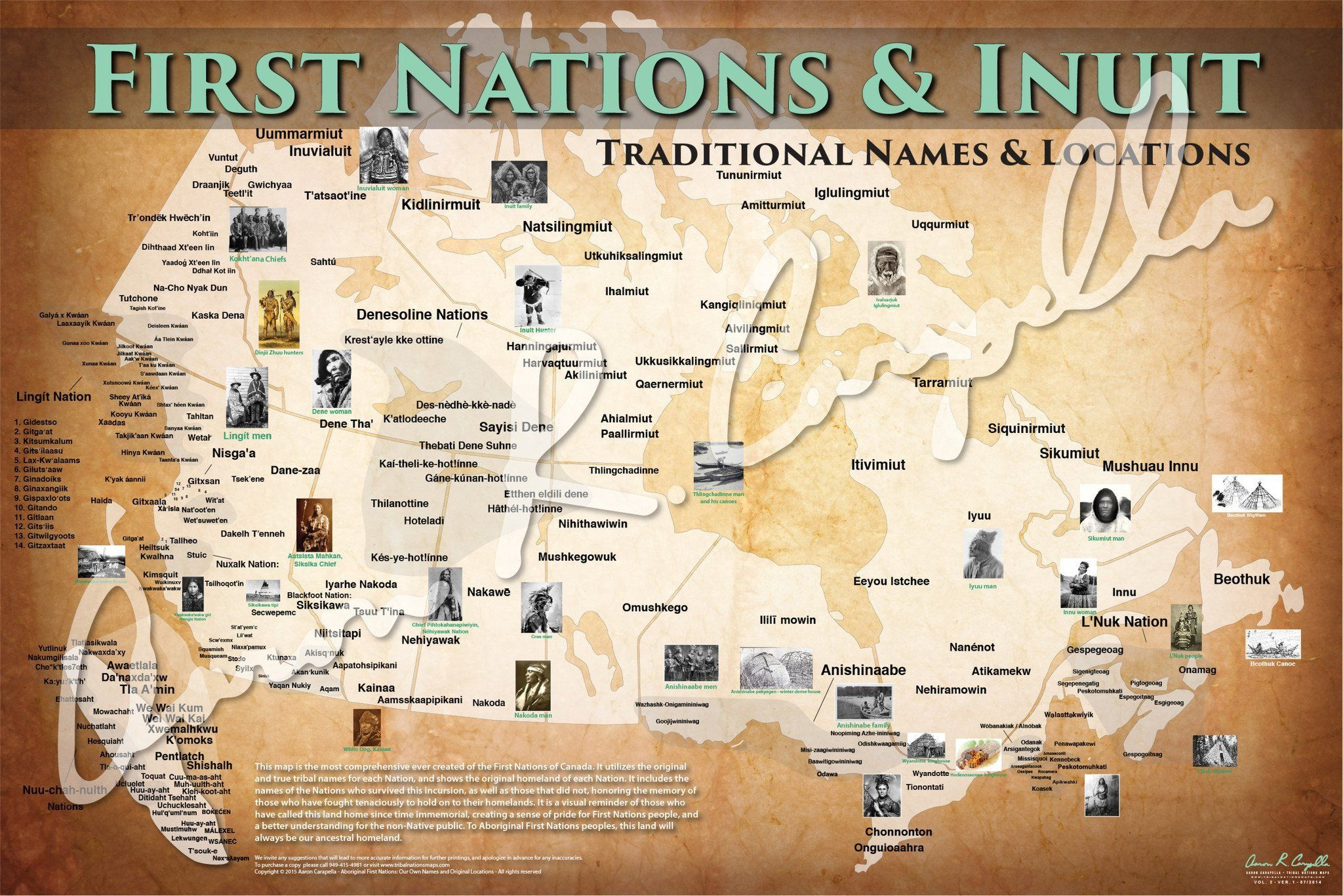 First Nations And Inuit Map Native Names Only