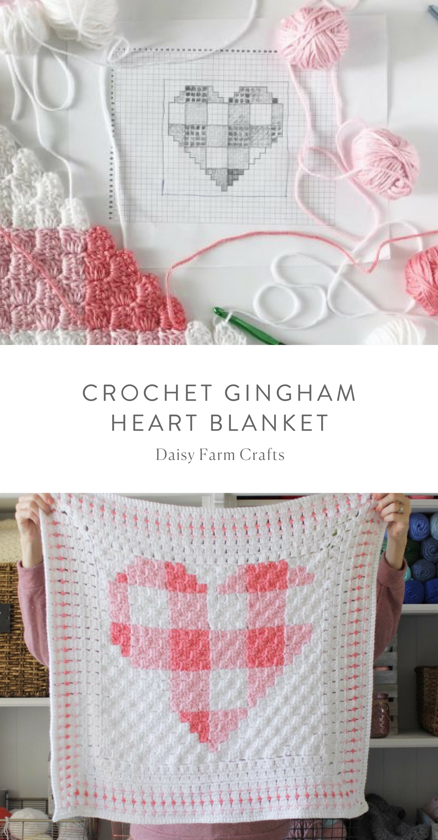 Free Pattern - Crochet Gingham Heart Blanket | Crochet | Pinterest ...