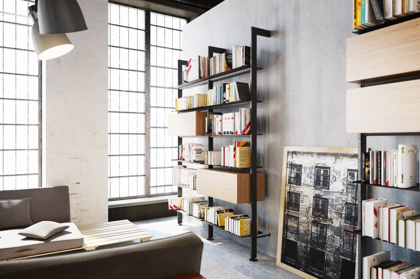 Wall Mounted Compression Shelving