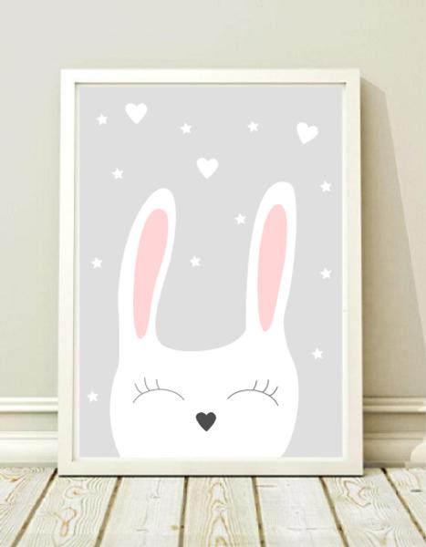a3 poster kinderzimmer druck hase kaninchen pinterest drucke kinderzimmer und babyzimmer. Black Bedroom Furniture Sets. Home Design Ideas