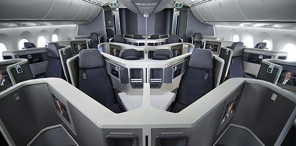 American airlines  new boeing dreamliner business class cabin also announces first routes for rh pinterest