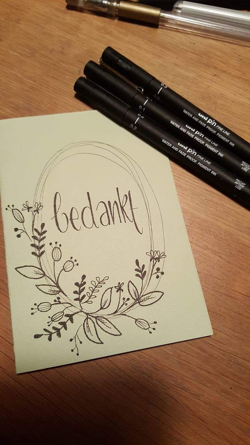This Would Make A Lovely Thank You Card Handbelettering