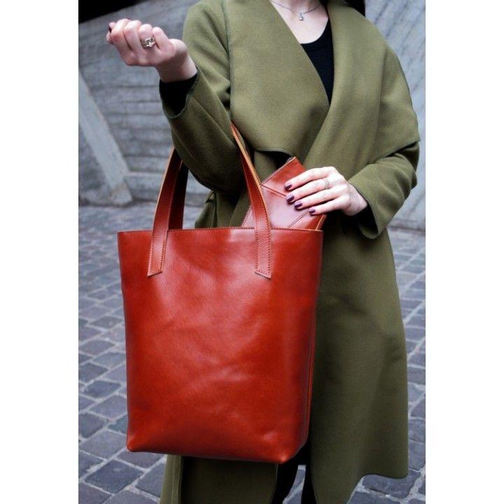 23865075a8b1 Стильные женские кожаные сумки. Сумка шоппер D.D. коньяк купить в Киеве и  Украине в интернет
