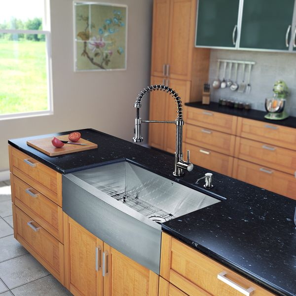 Vigo All In One 30 Inch Farmhouse Stainless Steel Kitchen Sink And Faucet Set Http