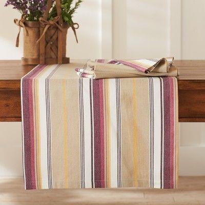Herringbone Striped Table Runner, Sale #williamssonoma