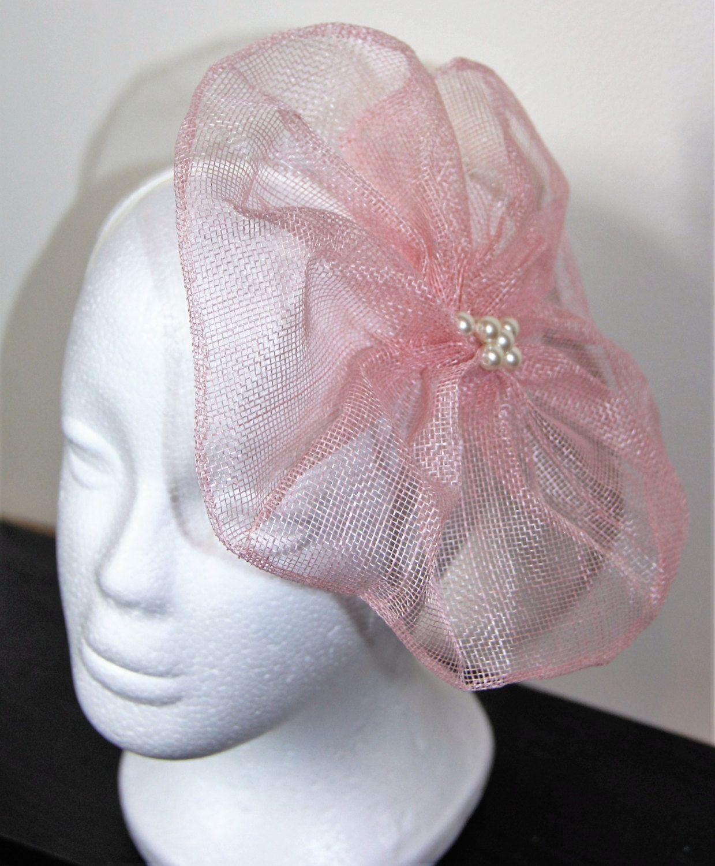 Pale Pink Flower Fascinator Floral Fascinator Wedding Fascinator