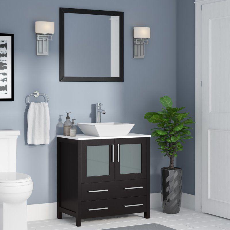 Karson 30 Single Bathroom Vanity Set With Mirror Single Bathroom Vanity Bathroom Decor Vanity Set With Mirror