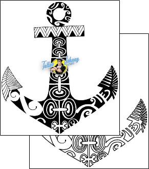 B1f 00008 Polynesian Tattoo Anchor Tattoo Design Anchor Tattoos