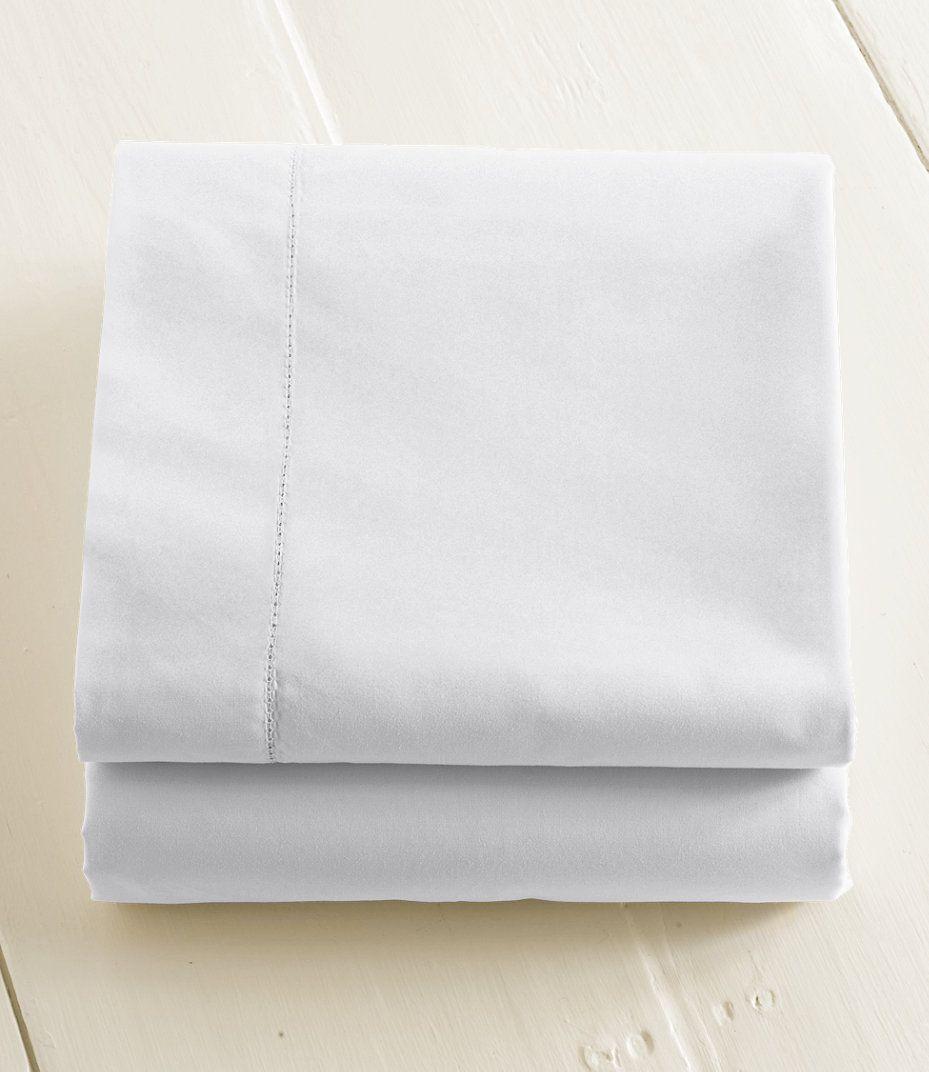 280 Thread Count Pima Cotton Percale Sheet Flat Ll Bean Good Reviews