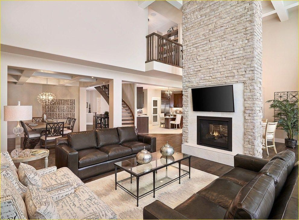 Modern Farmhouse Living Room with Leather sofa 94 Devon