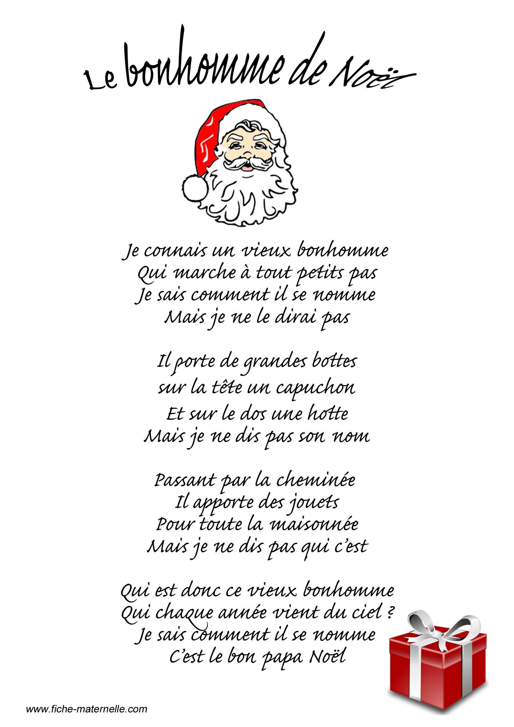 Poésie Le Bonhomme De Noël …