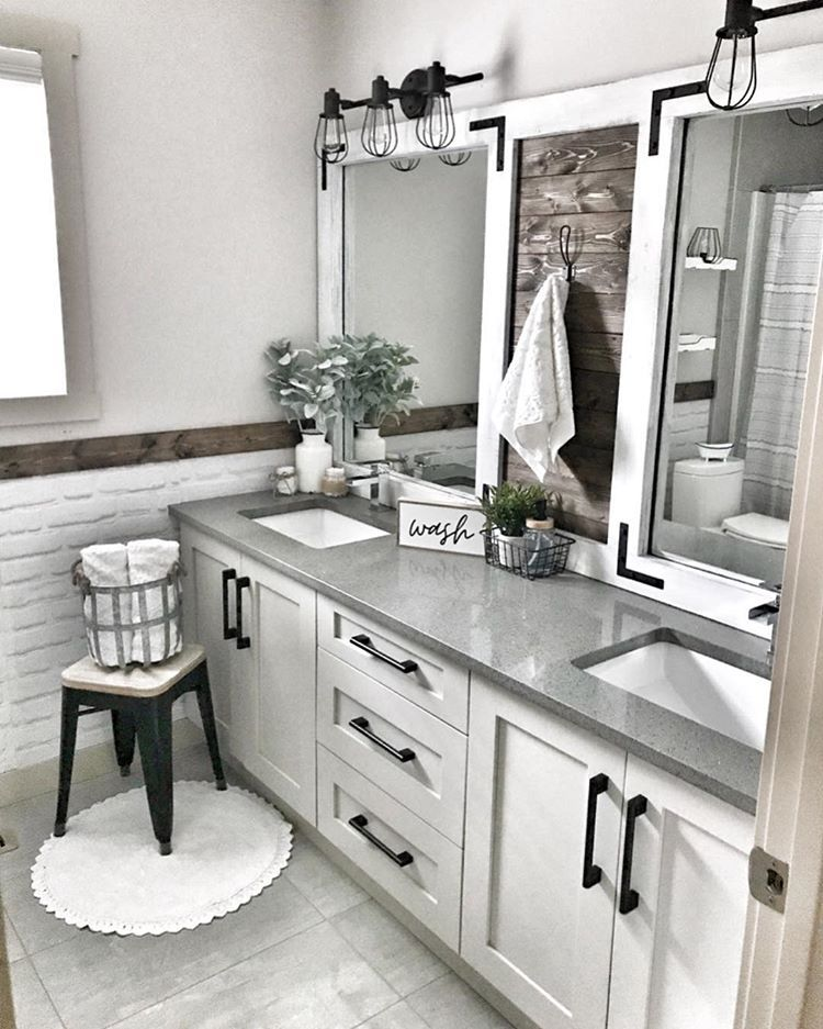 i hardly had a vision for the guest bathroom and it all