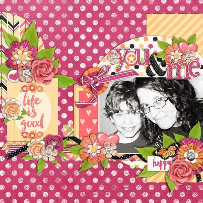 Layout using {Just Peachy} Digital Scrapbook Collection by Melissa Bennett Designs available at Sweet Shoppe Designs http://www.sweetshoppedesigns.com/sweetshoppe/product.php?productid=30802&page=1 #melissabennettdesigns