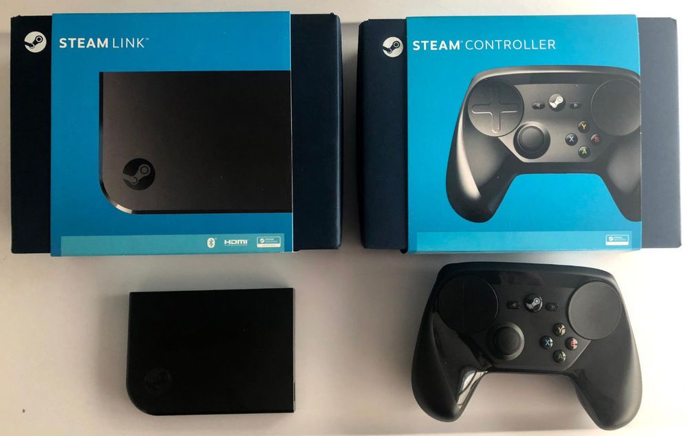 Valve Steam Controller and Steam Link bundle with all
