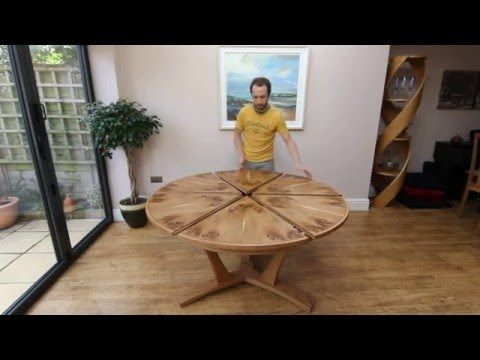 Expanding Circular Dining Table In Pippy Oak   YouTube