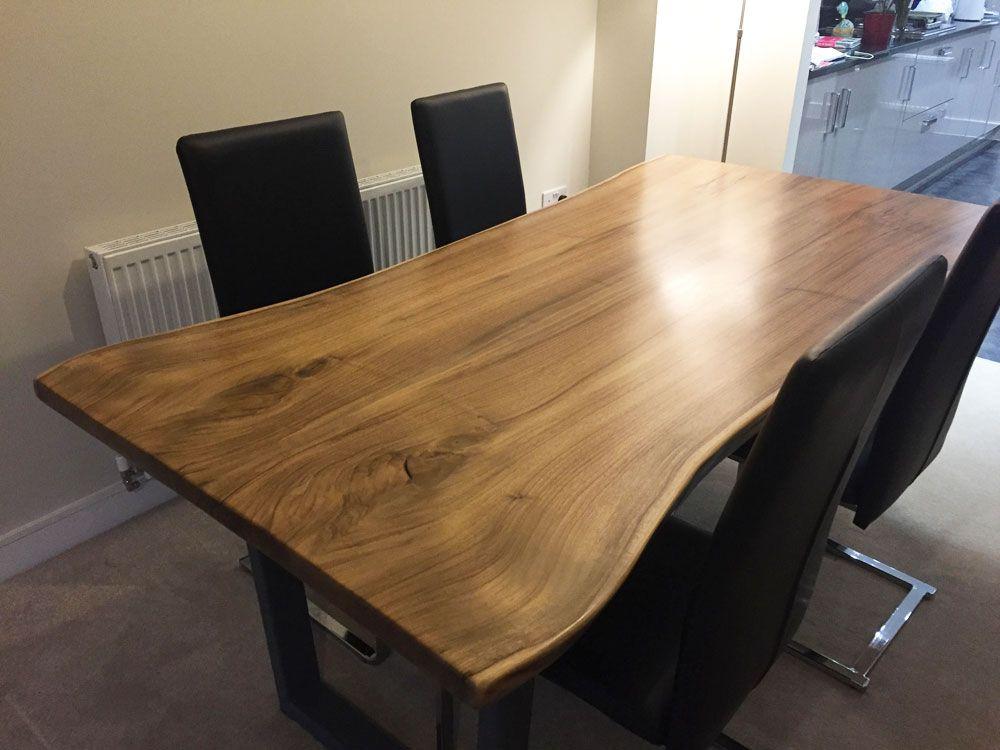 Waney Edge Walnut Dining Table | A in 2019 | Walnut dining ...