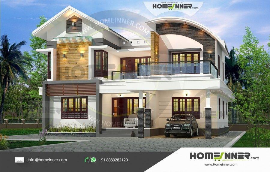 2519 Sq Ft 5 Bedroom Modern Home Design Kerala House Design Modern House Design House Elevation