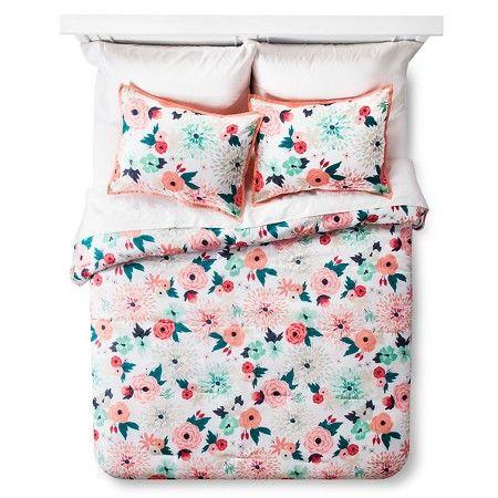 Multi Floral Printed Comforter Set Multicolor - Xhilaration ... : target quilts sets - Adamdwight.com
