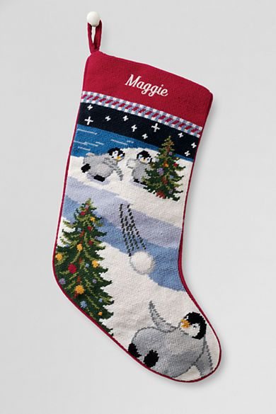 Lands End Christmas Stockings.Needlepoint Christmas Stocking From Lands End Christmas