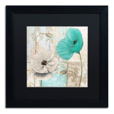 Trademark Art 'Beach Poppies III' by Color Bakery Framed Graphic Art