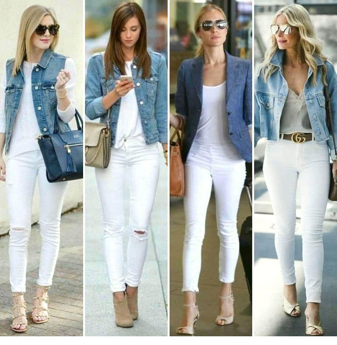 2020 Jeans Outfits 2020 Trendy Jeans Jackets And Outfits Women 2020 Jeans Jackets Style Jeans2020 2020jea In 2020 White Jeans Outfit Chic Outfits Fashion Outfits