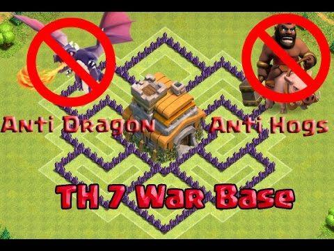 Best Th7 War Base Anti Dragon 2016 Clas Of Clan Clash Of Clans War