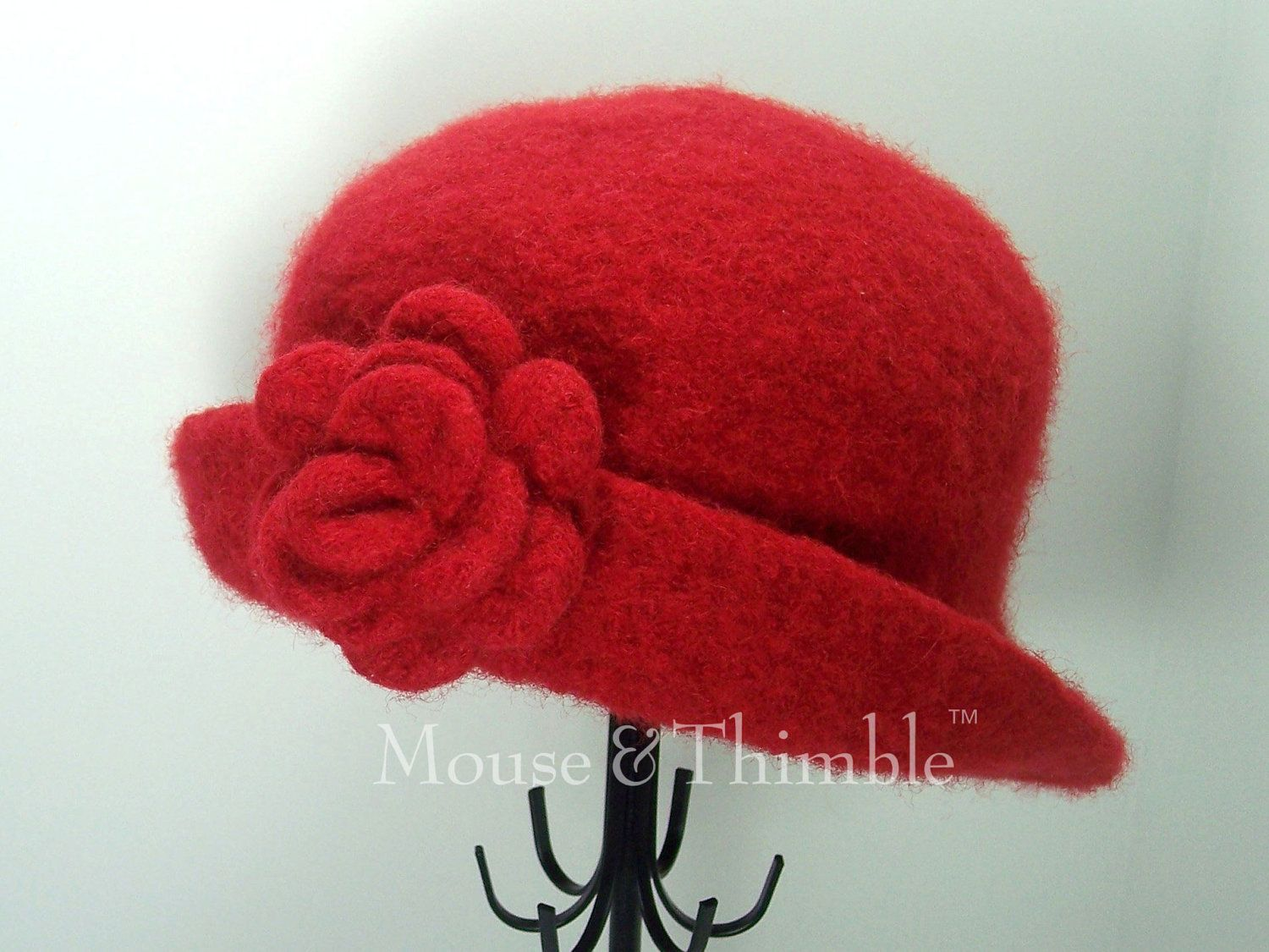Felted Hat Knitting Pattern : Free Felt Knit Hat Patterns Crochet PATTERN Felted Cloche Hat & Flower ...