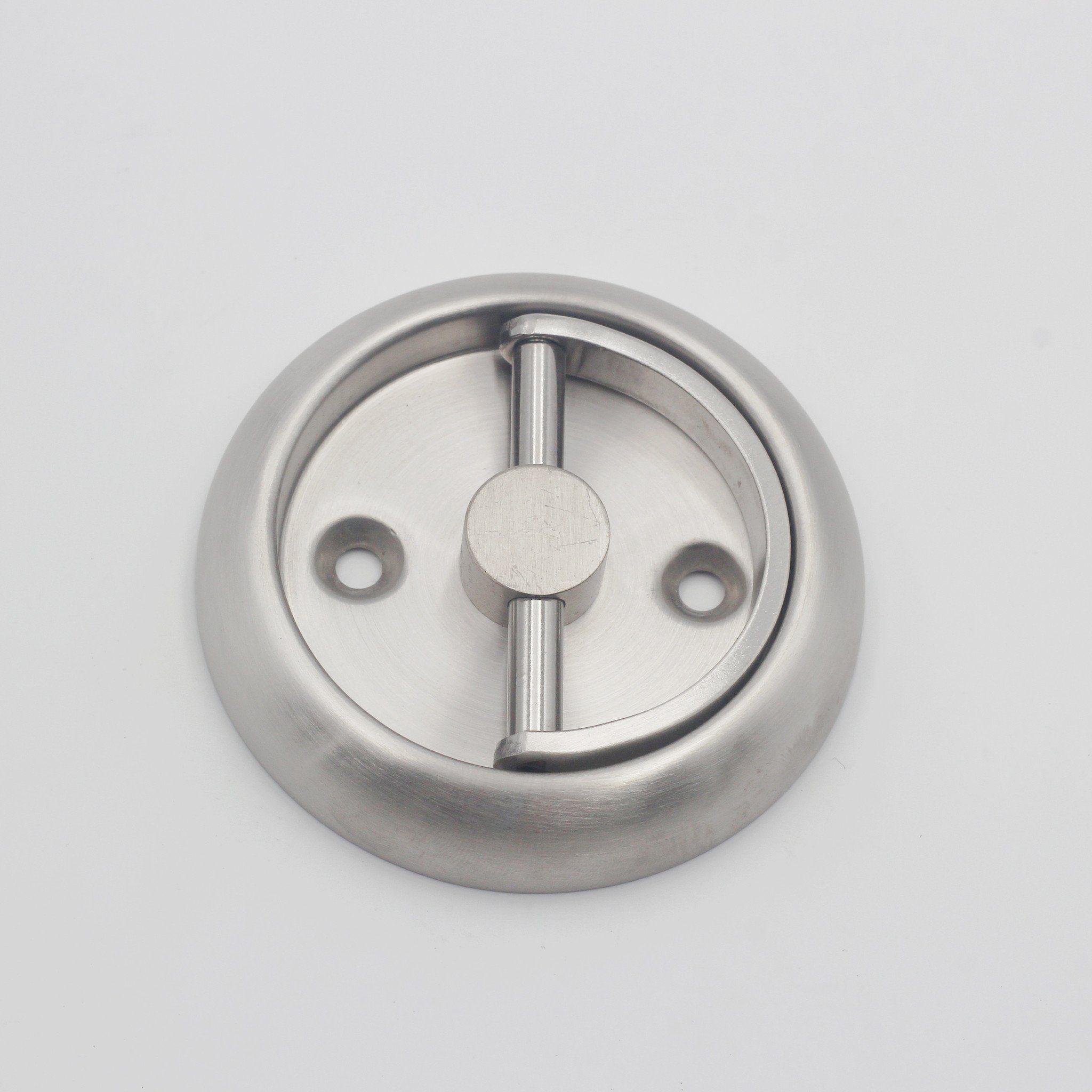 QT Round Recessed Door Handle/Deadbolt (No Key)(Standard
