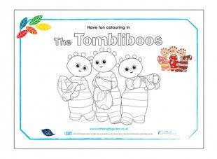 Your child can have lots of fun colouring in the Tombliboos In