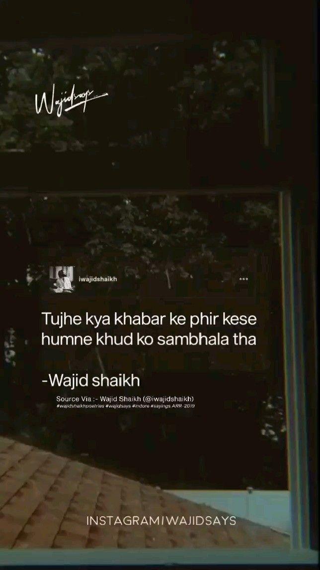 Wajid Shaikh Poetry In Hindi By The Kalyug