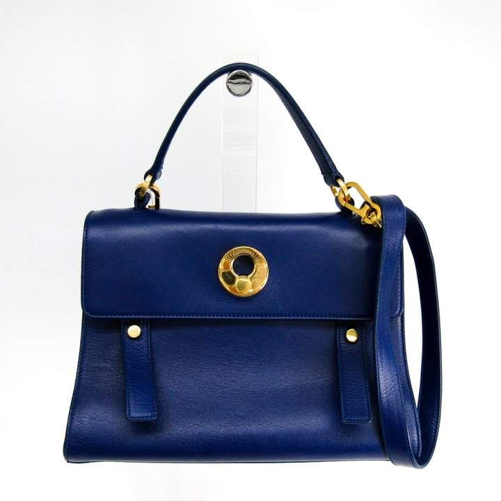 bee1b9446f4 Saint Laurent Blue Leather Muse Two (SHA11234) in 2019 | Products