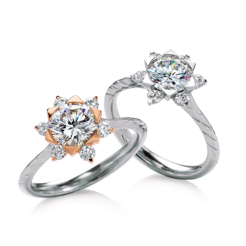 Mallow engagement ring by MaeVona Round brilliantcut