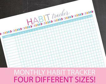 Habit tracker printable 30 day habit tracker goal tracker printable goal setting planner inserts printable pdf