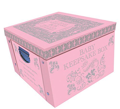 Mousehouse New Baby Girl Keepsake Box with Casting Imprint Kit and Frame