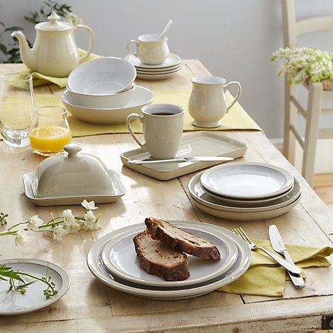 Buy Denby Linen Cup \u0026 Saucer Online at johnlewis.com & Buy Denby Linen Cup \u0026 Saucer Online at johnlewis.com | China ...
