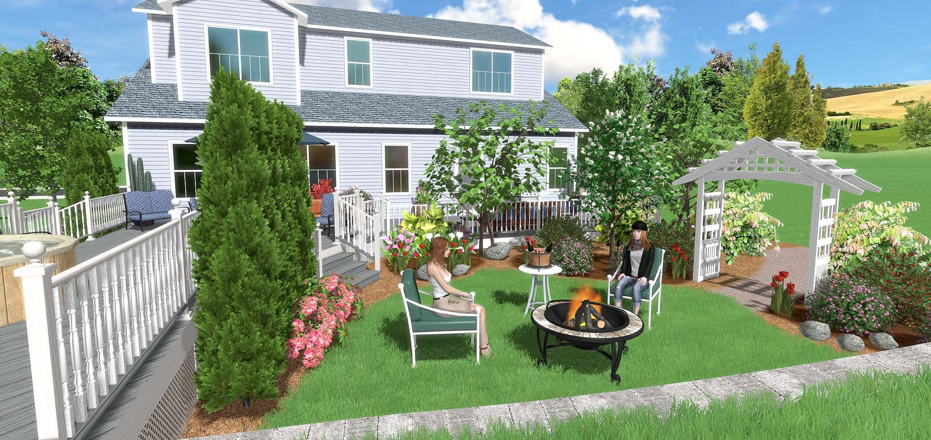 Realtime Landscaping Pro Was Designed From The Ground Up To Be Easy To Use Description Garden Design Software Free Landscape Design Landscape Design Software