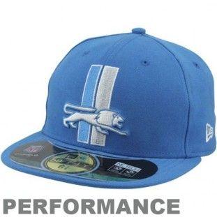 165e3ecd0 Detroit Lions New Era NFL Classic Throwback 5950 Fitted Hat (Blue ...