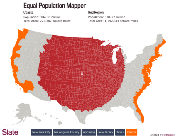 Equal Population Mapper Interactive Infographic Map Equality Data Visualization