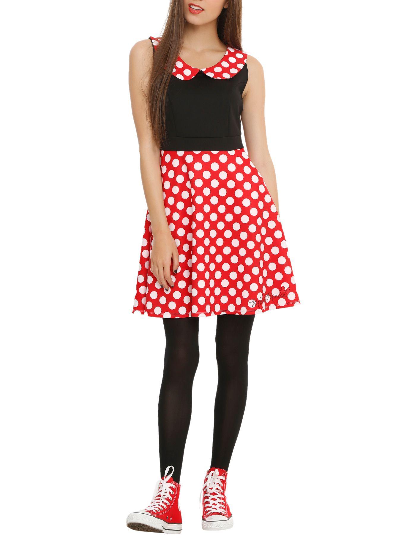 Disney Minnie Mouse Polka Dot Dress | Hot Topic | Dresses | Pinterest