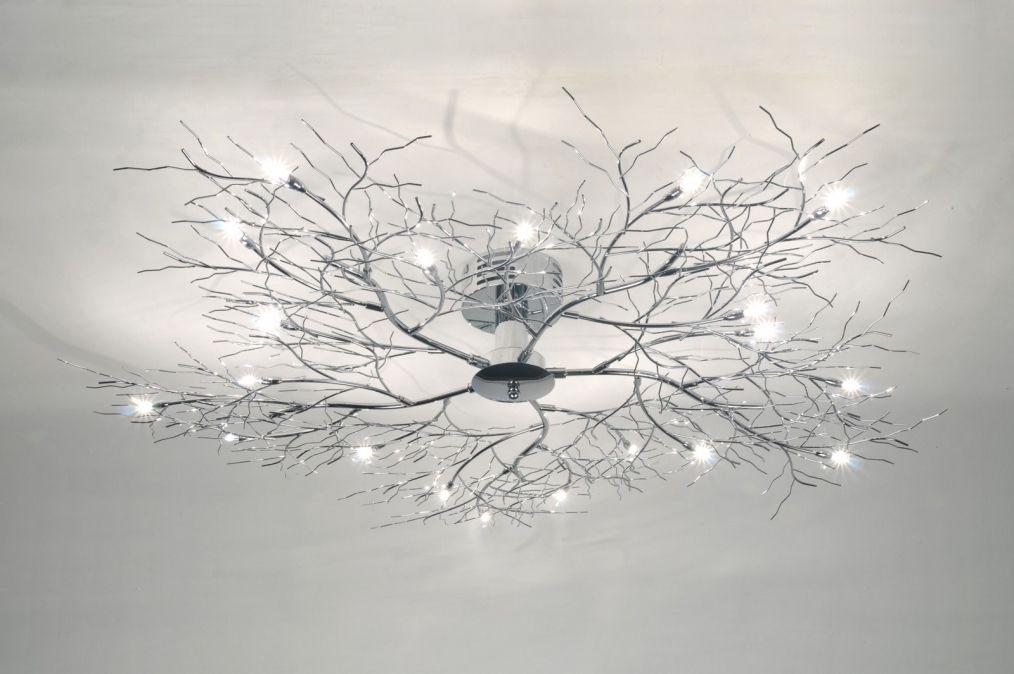 Plafondlamp 70985 Modern Chroom Rond Interior