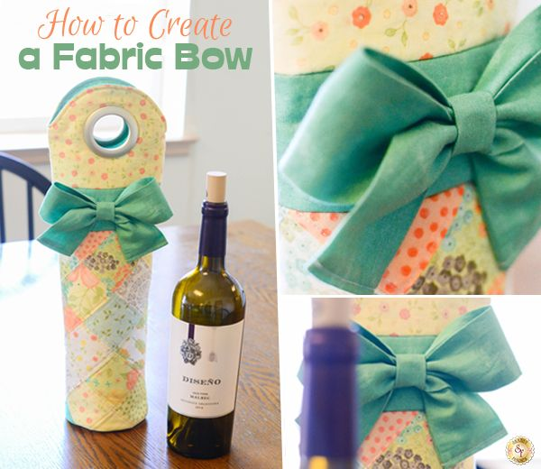 How to Make a Fabric Bow #fabricbowtutorial