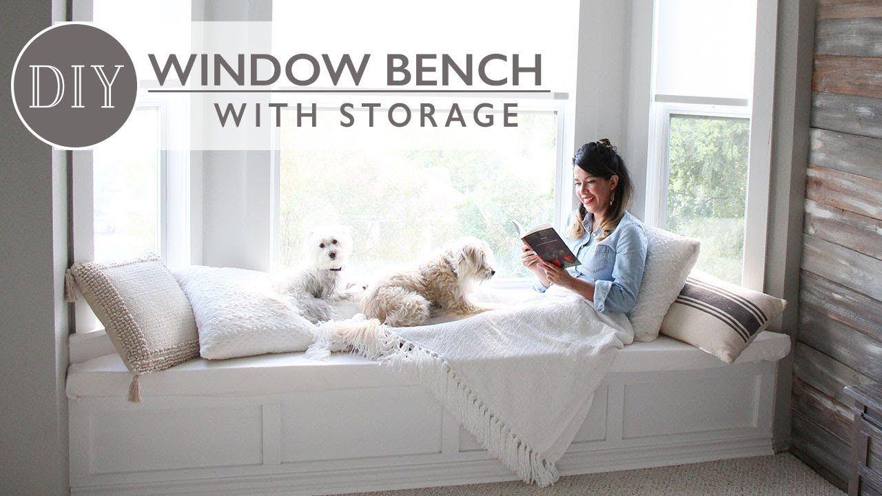 Diy window bench with storage ft lampsplus youtube