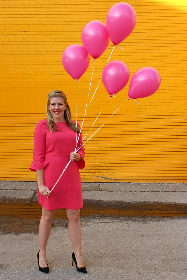 Sincerely, Jennie - blogiversary style with balloons and @bananarepublic