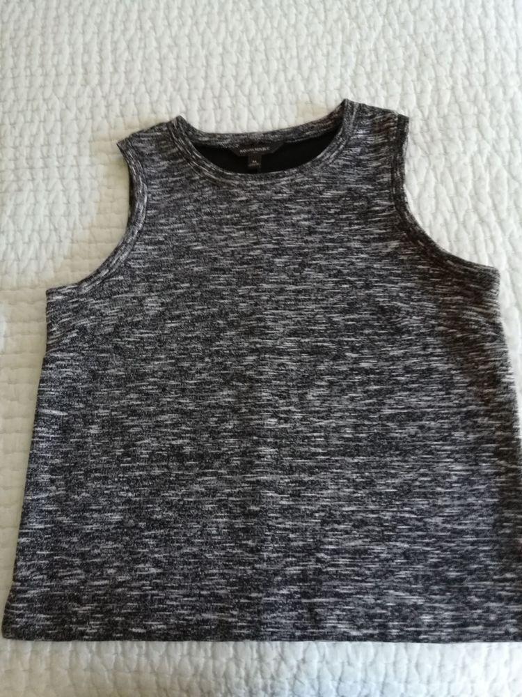 4525ba6c49a9 Banana Republic Womens Sweater Vest Medium Black Grey  BananaRepublic  Vest