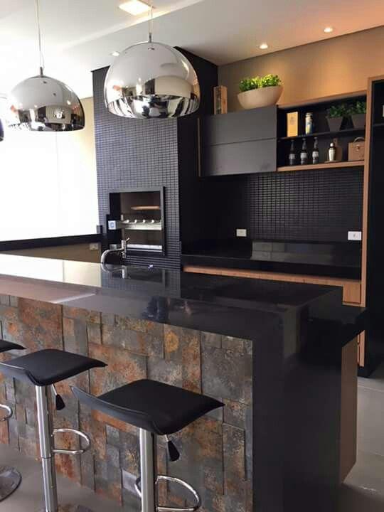 Atlas Preto Interior De Cocina Casas Cocinas Pequenas