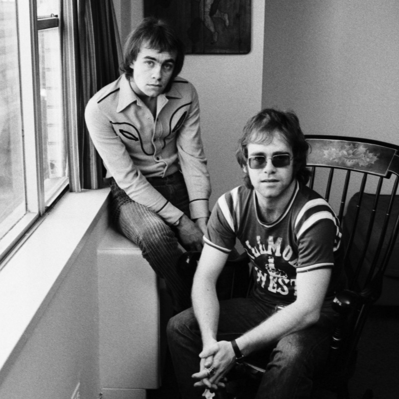 Bernie Taupin Left And Elton John In November 1970 In New York Elton John Bernie Taupin Elton Jon