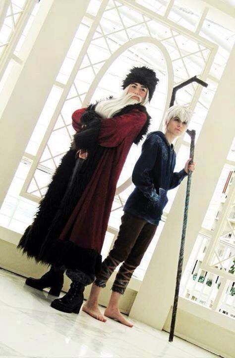 Santa Clause And Jack Frost From Rise Of The Guardians Cosplay