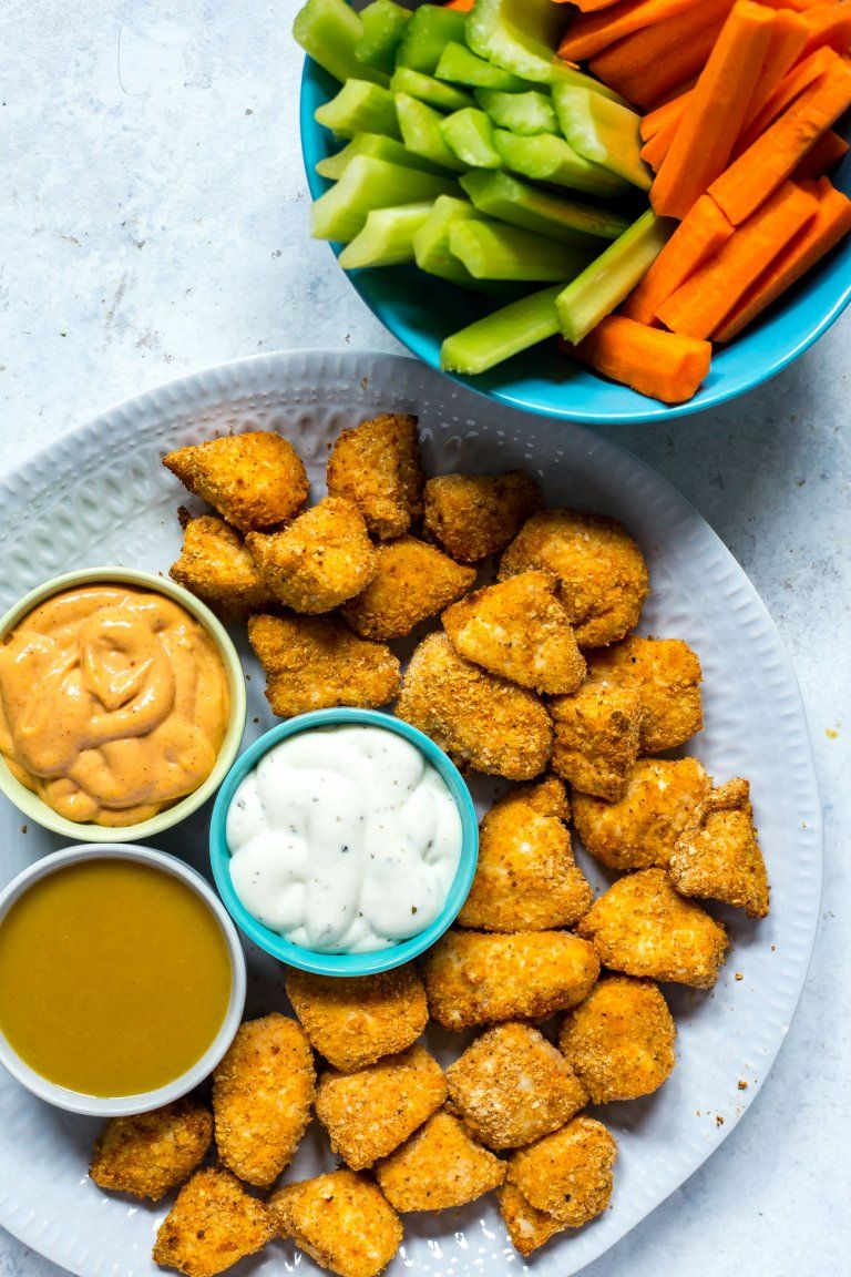 Airfryer chicken nuggets homemade chicken nuggets