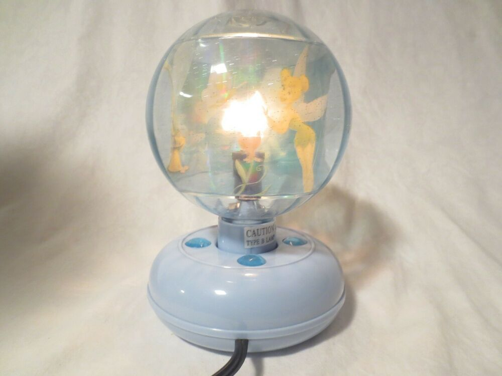 Disney Revolving Tinkerbell Night Light Disco Ball Lamp Unbranded In 2020 Ball Lamps Night Light Lamp